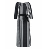 Studio Anneloes Sunday stripe dress 03122 zwart