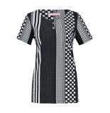 Studio Anneloes Monday stripe shirt 03121 zwart