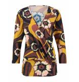 Studio Anneloes Axelle flower wrap shirt 03475 blauw