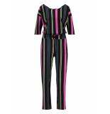 Studio Anneloes Anika stripe jumpsuit 03431 zwart