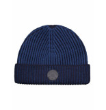 Dstrezzed Beanie 2tone knit blauw