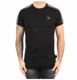 Philipp Plein T-hirt round neck hexagon black zwart