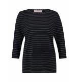 Studio Anneloes Flavia thin stripe shirt 03859 blauw