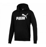 Puma Ess big logo hoodie fl zwart