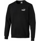 Puma Ess logo crew sweat fl zwart