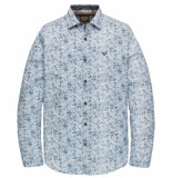 PME Legend Psi201218 5177 long sleeve shirt poplin stretch digital print dresden blue
