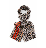 Marc Cain Zijden sjaal met print bruin zwart