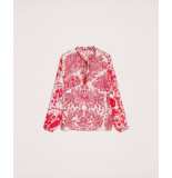 Twin-set Blouse rood wit