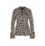 Marc Cain Stretchy shirt met luipaardprint