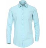 Venti Heren overhemd fil à fil effen 4 way stretch body fit groen