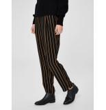 Selected Femme 16065105 slfalessa mw ankle pant stripes zwart