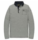PME Legend Pps201850 5287 long sleeve polo yarn dyed fine stripe jersey dark sapphire