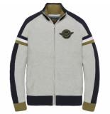 PME Legend Pkc201351 960 zip jacket cotton knit grey melee
