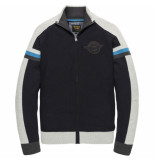 PME Legend Pkc201351 5287 zip jacket cotton knit dark sapphire