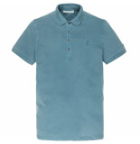 Cast Iron Cpss201340 5230 short sleeve polo light pique stretch mallard blue blauw