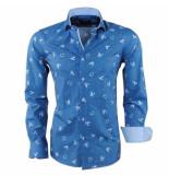 Dom Tower Heren overhemd turtle blauw