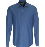 Camel Active Heren overhemd denim blauw cutaway regular fit