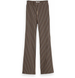Maison Scotch Striped flare pants zwart