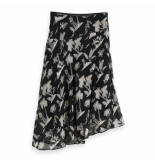 Maison Scotch printed skirt zwart