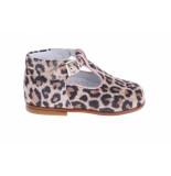 Beberlis 21414 palomino bandschoentjes leopard