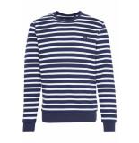 Lyle and Scott Breton stripe sweatshirt blauw