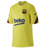 Nike Fc barcelona trainingsshirt 2019-2020 kids yellow geel