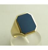 Christian Gouden ring met lagensteen geel goud