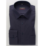 Eterna Overhemd donker fine oxford modern kent borstzak modern fit paars