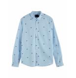 Scotch & Soda Overhemd blauw 153548 0217 -