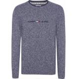 Tommy Hilfiger Sweater dm0dm07420 cbk black iris - blauw
