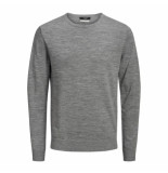 Jack & Jones Trui pullover 12158190 mark knit grey melange -