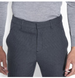 PLAIN Pantalon josh 30352 dark grey grid - grijs