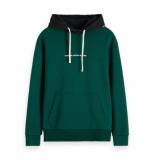 Scotch & Soda 152239 0217 sweater hoodie - blauw