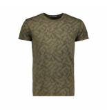 No Excess T-shirt all over print 92340701 059 dark army - groen