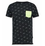 Kultivate 1901030211 319 t-shirt cursive dark navy - blauw