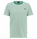 Kultivate 1901030205 203 t-shirt sneaker stripes - ecru