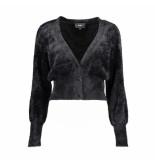 Object Black vest 23031111 casra knit black - zwart
