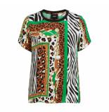 Object T-shirt all over print 23031253 tatiana top brown patina - bruin