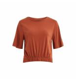 Object T-shirt brown 23030499 brown platina - bruin