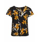 Object T-shirt floral print 23033004 floral print black - zwart