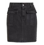 Object Denim rok 23030123 grace skirt black - zwart