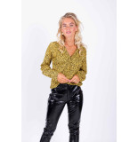 Colourful Rebel Blouse leopard dessin 7133 leopard blouse yellow - geel