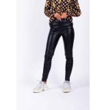 Colourful Rebel Leather pants 6410 cara laux broek black - zwart