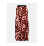Summum 6s1158-11286 printed plisse skirt rood