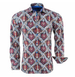 Bravo Jeans Heren overhemd paisley design slim fit rood