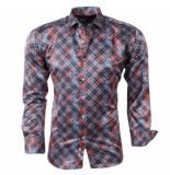Pradz 2018 Heren overhemd met trendy design oranje