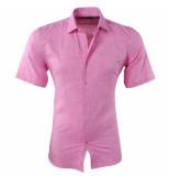 New Republic Pradz heren korte mouw overhemd met trendy design slim fit -